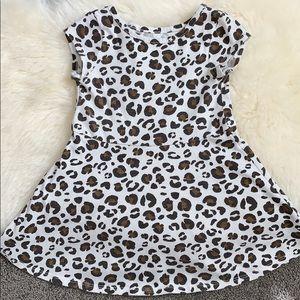 Cat & Jack 2T leopard flare dress
